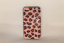 Iphone 4G/4S Bling Leopard Cover Case Choose Color: Sweet Pink, Hot Pink, Blue