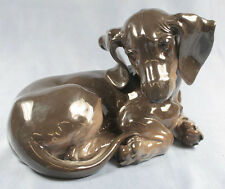 Dackel Porzellanfigur  hund hundefigur Teckel porzellanhund Rosenthal Kärner rar