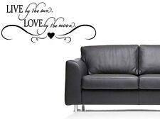 """LIVE SUN LOVE MOON Words Vinyl Wall Decal Lettering Sticky Sticker Quote 24"""""""
