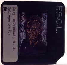 "W. J. Rozendaal ""Self Portrait"" 35mm Dutch Art Slide. Rare."