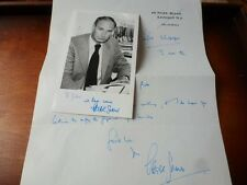 AUTOGRAPH of PETER SNOW - TV & Radio Presenter - Elections TOMORROWS WORLD