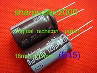 2PC ORIGINAL Nichicon 420V 120UF Electrolytic Capacitors 18X30mm (B45)