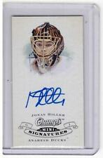 JONAS HILLER 09/10 CHAMPS CHAMP'S MINI Auto Autograph Anaheim Ducks CS-HI