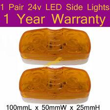 One Pair 24V LED Side Lights 100mmL x 50mmW x 25mmH 1 year Warranty K002