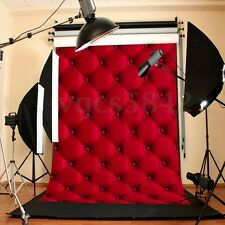 3D 5x7FT Vinyl Red Wall Photography Background Backdrop For Studio Photo Prop US