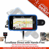 Belkin TuneBase Direct with Hands-Free for iPhone 4S 4 3GS iPod Touch & Nano