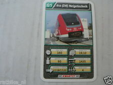 22 SUPER TRAIN G1 612 DB NEIGETECHNIK TREIN KWARTET KAART, QUARTETT CARD