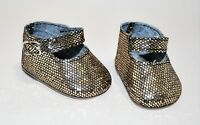 Fits American Girl Dolls Our Generation 18 Doll Clothes Bronze Glitter Shoes