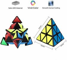Rubiks Cube Pyramid Rubix Games Magic Puzzle Kid Brain Teasers Twist Speed Toys