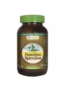 NUTREX Pure Hawaiian Spirulina Superfood Supplement, 360 Tablets