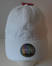 Nike Air Jordan H86 Floppy Strapback Hat Triple White Adjustable OSFM  Jumpman 0ab7fa384a46