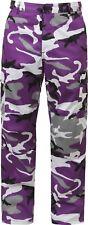 Tactical BDU Pants, Camo Cargo Uniform 6-Pocket, Camouflage Military Fatigues