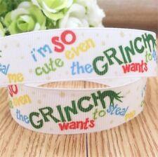 7/8 Inch Grinch Christmas Grosgrain Ribbon - So Cute Even The Grinch Wants....