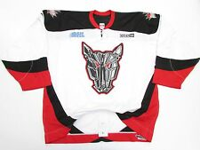 MISSISSAUGA ICEDOGS AUTHENTIC OHL WHITE PRO CCM HOCKEY JERSEY SIZE 54