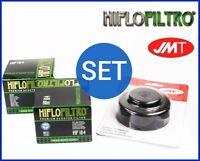 2x HIFLO Filtro Aceite HF184 + Llave de Peugeot Satelis 400 Premium