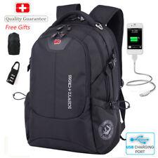 "Swiss urban Travel Bags Laptop Backpack 16"" USB Port Versatile Schoolbag gifts+"