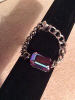 HRH Collection La Lumiere Zelda Vintage Swarovski Crystal Chain Bracelet HTF