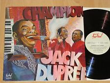 LP SIGNED 1976-Champion Jack Dupree-SAME-Recorded Live 1971 Festival-NM