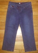 Tommy Hilfiger Jeans Capris Lace up Fly Sz 7 28x20 Denim Jeans Blue p2616
