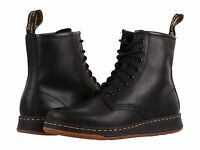 Men's Dr. Martens Newton 8-Eye Fahion Boots Black Temperley Leather All Size NEW
