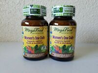 2-Pack Mega Food Women's One Daily Multivitamins 60ct EXP 2/2022 FAST SHIPPING!!