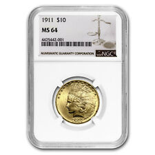 1911 $10 Indian Gold Eagle MS-64 NGC