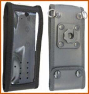 Weichledertasche mit kontakt-pro Knopf, für Sepura STP8/9000