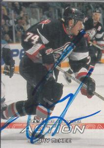 Jay Mckee Autograph 03-04 Action Stars Card Blues - Penguins