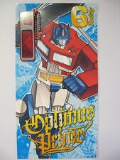 FANTASTIC TRANSFORMERS WITH SECRET DECODER 6 TODAY 6TH BIRTHDAY GREETING CARD