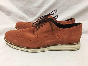 Cole Haan Original Grand Stitchlite Wingtip Shoes - Coral C31449 Men's 10M