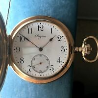 LONGINES ANTIQUE POCKET WATCH 14K Yellow, SOLID GOLD 1910 Grand Prix - 51mm 25S