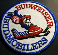 "Vintage Budweiser Snowmobile Patch 5"" X 5"" New (924)"