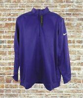 NWT Nike Mens Dri-fit Therma Full Zip Coaches Jacket Size XL Purple Standard Fit