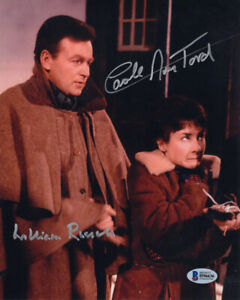 WILLIAM RUSSELL CAROLE ANN FORD SIGNED AUTOGRAPHED 8x10 PHOTO DR WHO BECKETT BAS