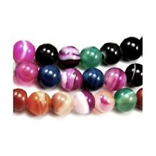 Banded Agate Round Beads 10mm Mixed 35+ Pcs Gemstones Jewellery Making Crafts
