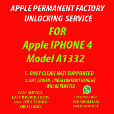 APPLE IPHONE 3GS 4 4S 5 5C 5S PERMANENT FACTORY UNLOCK AT&T ATT NO CONTRACT ONLY