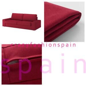 IKEA KIVIK Cover three-seat sofa, Orrsta red