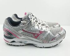 Women's Mizuno Wave Rider 14 Athletic Running Shoes Pink Silver Size 8 US
