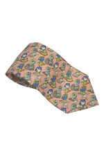 """*GUCCI* PINK SHELL AND FISH PRINT SILK TIE (57"""")"""