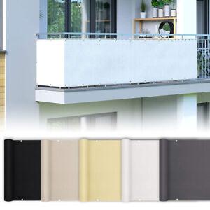 PES Balkon Sichtschutz Balkonbespannung Windschutz Balkonverkleidung blickdicht