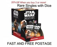 Star Wars Destiny TCG - Awakenings - Rare Card Singles with Dice