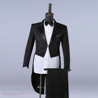 Men Tuxedo Suit Pants & Jackets Formal Tail Coats Trousers Casual Wedding Party