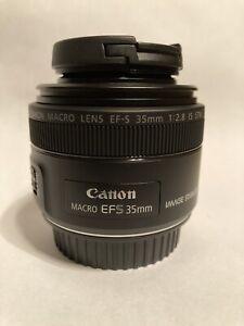 Canon EF-S 35mm F/2.8 Macro IS STM - MINT