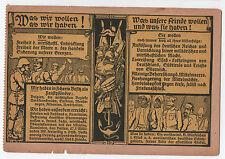 Historical Postcard World War 1 Era Nazi Propaganda Fallersleben Hitler Germany