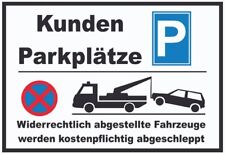 Kunden Parkplatz Parkplätze Blechschild Schild gewölbt Metal Tin Sign 20 x 30 cm