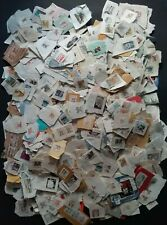 Large 1 Pound Mixed Lot Of Used Vintage Postage Stamps, Most 1980's Or Older