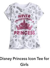 """Authentic Disney Store Girls T-shirt Size 4 NWT~""""Never Underestimate A Princess"""""""