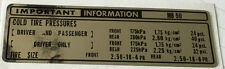 HONDA MB50 MB5 MB-5 TYRE TIRE INFORMATION CHAIN CAUTION WARNING DECAL