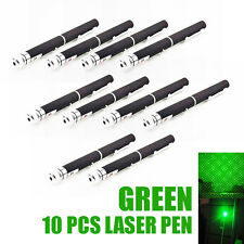 New 10 Pcs 532nm Visible Beam Light Powerful Green Laser Pointer Pen Torch