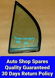 Toyota Corolla 1994-1999 Rear Left 1/4 Glass Window With Rubber